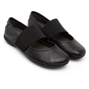 Camper Ballerina Shoes Black Slippers Slides